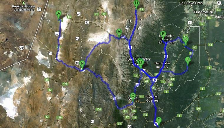 2012 Route Argentinien